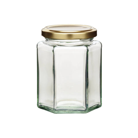 Home Made 340ml Hexagonal Jar with Twist-off Lid