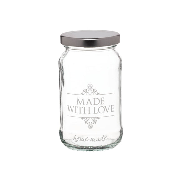 Home Made Traditional Glass 454ml 1lb 'Made with Love' Jar