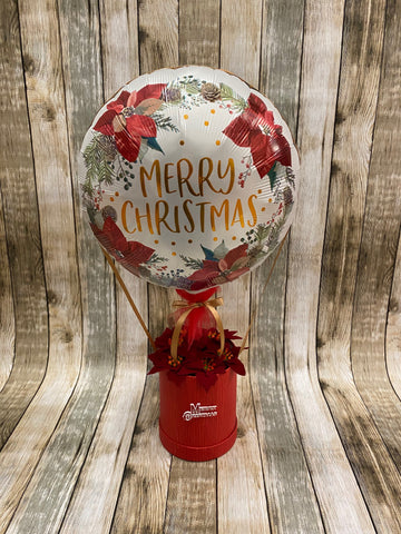 DEPOSIT - Poinsettia Christmas Balloon - COLLECTION FROM STORE ONLY - Please read FULL Description