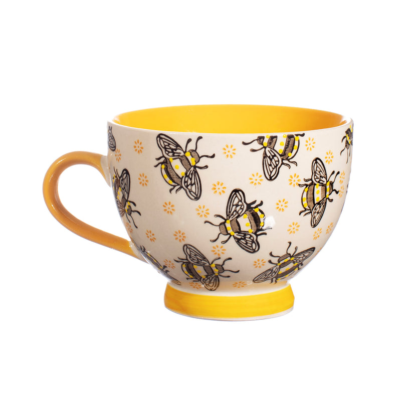 Busy Bees Hand Painted Mug in Gift Box