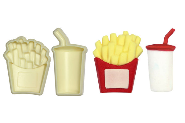 JEM Easy Pops Pop It Cutter Mould  - Fries and Drink - Ideal for a McDonalds Cake