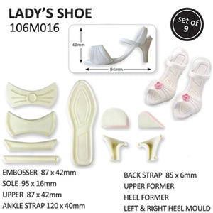Jem 9 Piece Ladies Shoe Cutter Embosser High Heeled Shoe Set