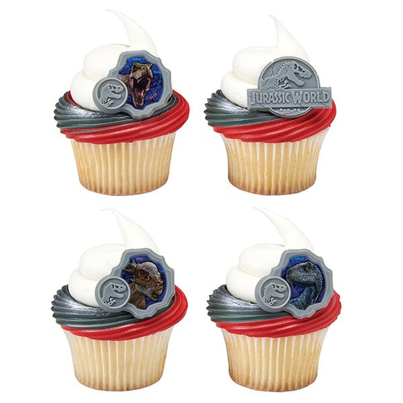 Jurassic World Dinosaur Fallen Kingdom They Were Here First Ring Cupcake Pic - Sold Singly