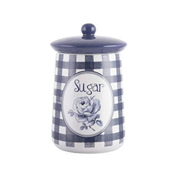 Katie Alice Vintage Indigo Blue Ceramic Sugar Jar