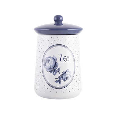 Katie Alice Vintage Indigo Blue Ceramic Tea Jar