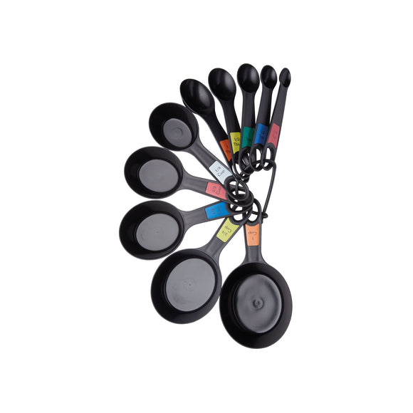KitchenCraft Set of 10 Stacking Measures Spoons & Cups