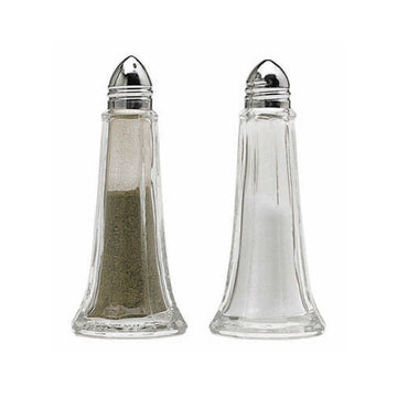 KitchenCraft Set of 2 Glass Salt and Pepper Shakers