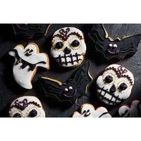 KitchenCraft Spookily Does It Spatula and Cookie Cutter Set Ghost, Bat or Skull