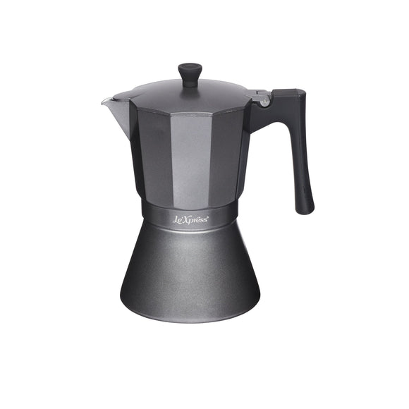 Le'Xpress 9-Cup Induction-Safe Stovetop Espresso Maker