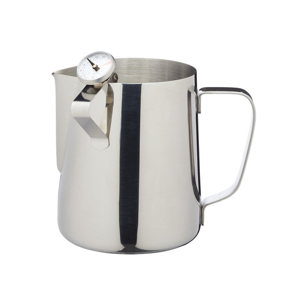 Le'Xpress Stainless Steel Milk 600ml Frother Jug with Thermometer