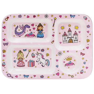 Little Stars Fairy Tale Unicorn Princess Children's Food Dinner Tray