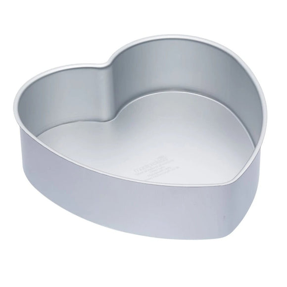MasterClass Silver Anodised 25cm Loose Based Heart Cake Pan