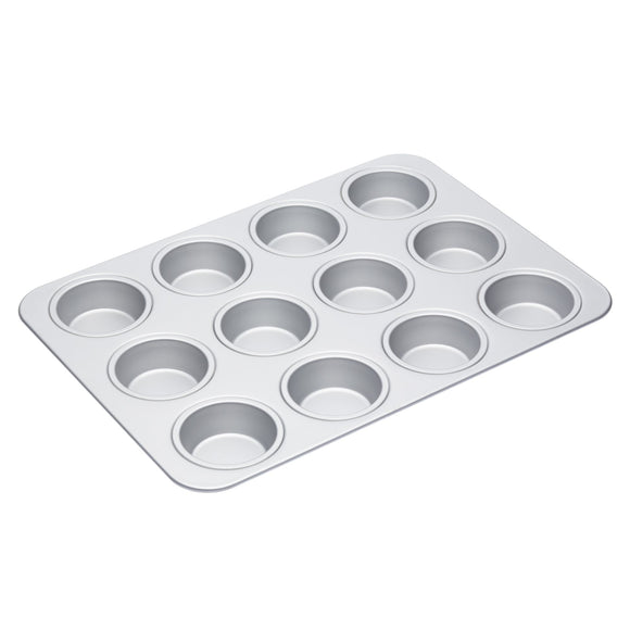 MasterClass Silver Anodised 42cm Muffin Pan Baking Tin