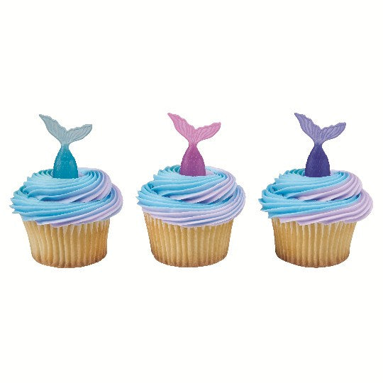 Mermaid Tail DecoPic Cupcake Pic Decoration - 80mm inc pic - Sold Singly