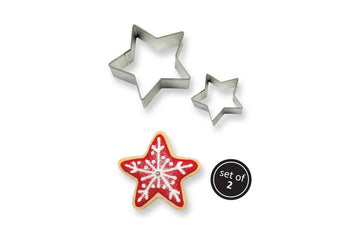 PME Metal Cookie & Cake Cutter Star Set of 2