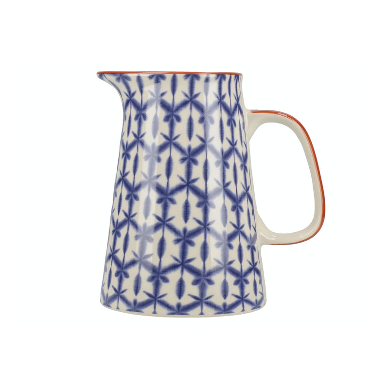 Mikasa Drift Jug Blue with Terracotta Accents - The Cooks Cupboard Ltd