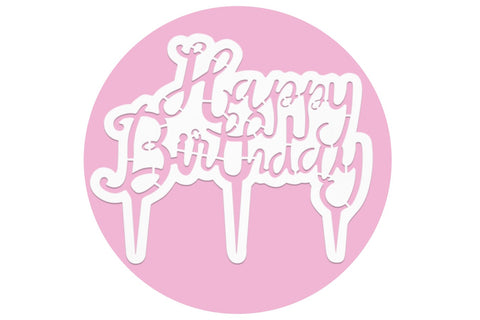 PME Cake Topper Script Happy Birthday Cutter