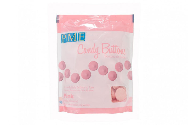 PME Light Pink Candy Buttons Vanilla Flavoured Melts
