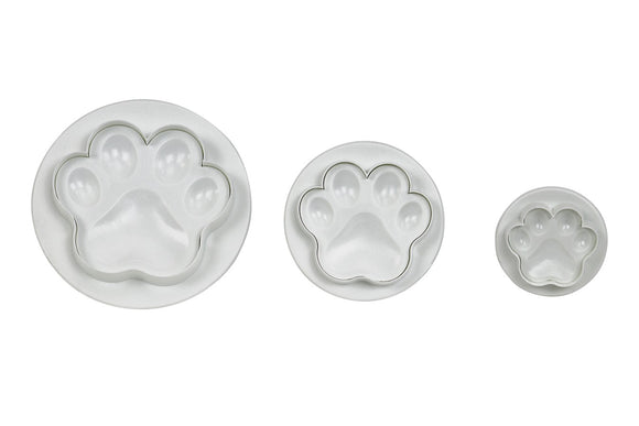 PME Paw Print Plunger Cutter - Set of 3