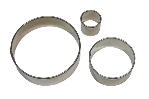 PME Round Stainless Steel Circle Cutter Set - 3 Sizes