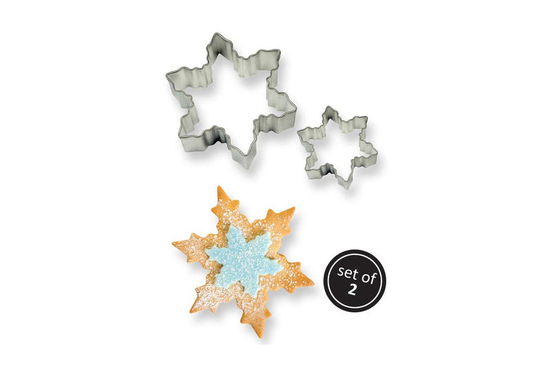 PME Stainless Steel set of two Snowflake cutters - The Cooks Cupboard Ltd