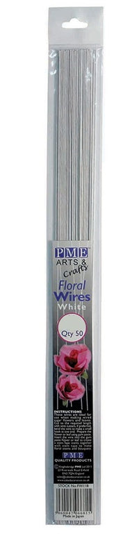 PME White Floral Sugarcraft Wires 30 Gauge