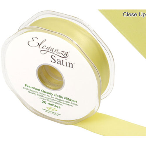 Pale Yellow Satin Ribbon - 25mm
