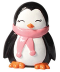 Penguin Plastic Cute Winter Christmas Cake Topper Pink Scarf