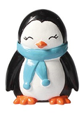 Penguin Plastic Cute Winter Christmas Cake Topper Blue Scarf