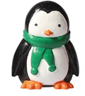 Penguin Plastic Cute Winter Christmas Cake Topper Green Scarf