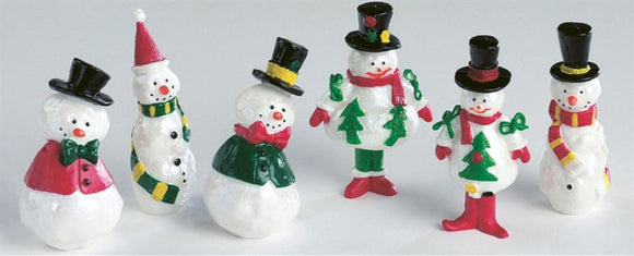 Plastic Assorted Pearly Snowman Christmas Cake or Cupcake Pic Topper