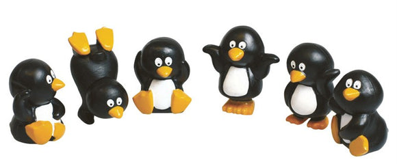 Plastic Penguin Christmas or Yule Log Cake Topper - Sold Singly