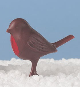 Plastic Robin Dark Brown - Christmas Cake or Yule Log Decoration - The Cooks Cupboard Ltd