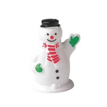 Plastic Waving Snowman Cake Topper or Yule Log Decoration