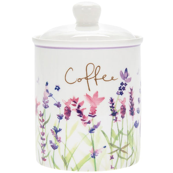 Purple Lavender Coffee Storage Canister