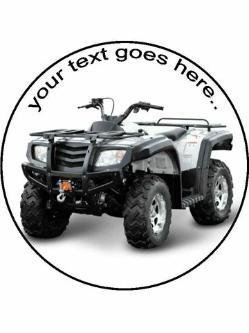 Quadbike quad bike off road Personalised Edible Cake Topper Round Icing Sheet