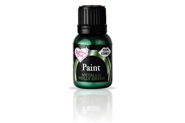 Rainbow Dust Edible Food Paints - Metallic Holly Green