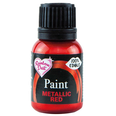 Rainbow Dust Edible Food Paints - Metallic Red Paint