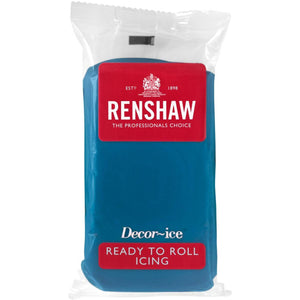 Renshaw Professional Sugar Paste Ready to Roll Icing - Atlantic Blue - 500g