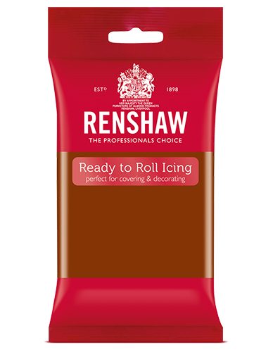Renshaw Professional Sugar Paste Ready to Roll Icing - Dark Brown - 250g