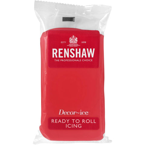 Renshaw Professional Sugar Paste icing Ready to Roll - Poppy Red - 500g