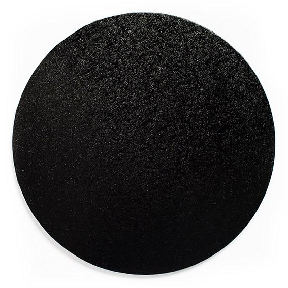 Round Cake Board Drum Black 10""