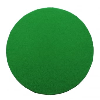 Round Cake Board Drum Green 12""