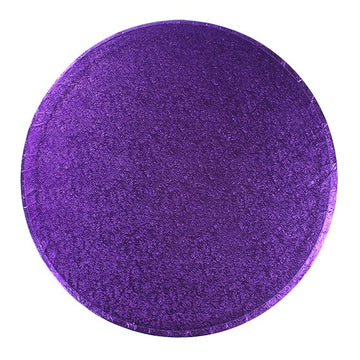 Round Cake Board Drum Purple 12""