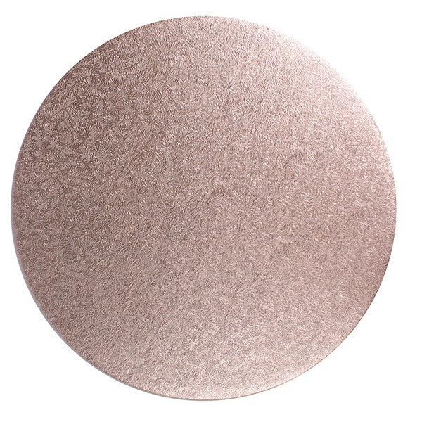 Round Cake Board Drum Rose Gold 12""