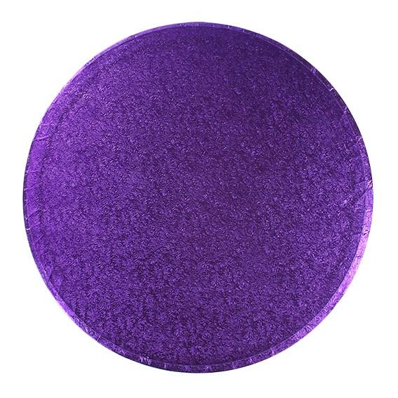Round Cake Board Drum Purple 10""
