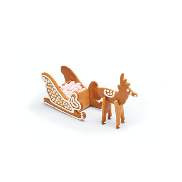 Sweetly Does It Stainless Steel 3D Sleigh and Reindeer Cookie Cutter Set