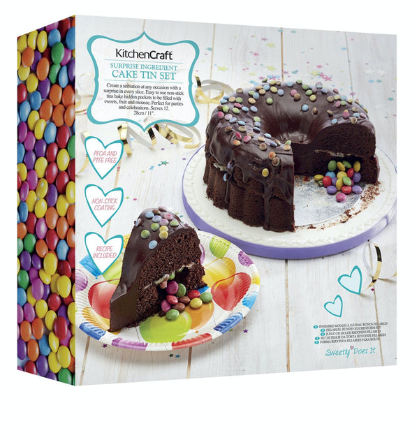"Sweetly Does It ""Surprise Ingredient"" Fillable Ring Cake Tin / Piñata Cake Baking Pan"