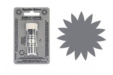 Sugarflair Edible Lustre Dust Silver Sparkle