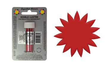 SUGARFLAIR EDIBLE LUSTRE FOOD COLOUR DUST CHRISTMAS RED